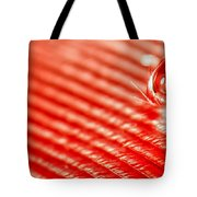 Red Lined Tote Bag