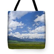 Red Lodge Spring Scene 1 Tote Bag by Roger Snyder