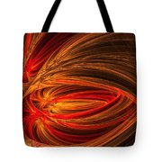 Red Luminescence-fractal Art Tote Bag