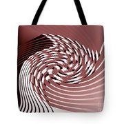 Red Malestrom Tote Bag