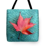 Red Maple Blue Tote Bag