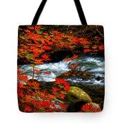 Red Maple Stream  Tote Bag