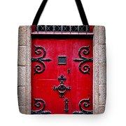 Red Medieval Door Tote Bag by Elena Elisseeva