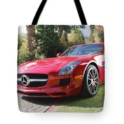Red Mercedes Benz Tote Bag