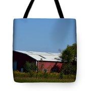 Red Metal Barn Tote Bag