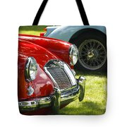 Red M G Tote Bag