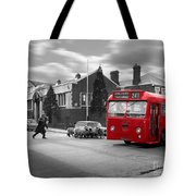 Red Midland Bus And Sheep - 1960's    Ref-126 Tote Bag