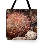 Red Mohave Barrel Cactus Tote Bag