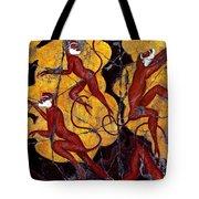 Red Monkeys No. 3 - Study No. 1 Tote Bag