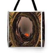 Red Moon Rising - Abstract - Triptych Tote Bag
