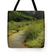 Red Mountain Creek - Colorado  Tote Bag by Mike McGlothlen