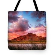 Red Mountain Sunset Tote Bag