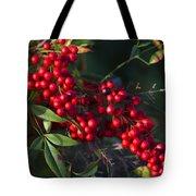 Red Nandina Berries - The Heavenly Bamboo Tote Bag