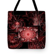 Red Neon Collage Tote Bag