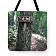 Red North Sign Tote Bag