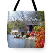 Red October On The Lake Tote Bag