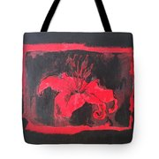 Red On Black Tote Bag