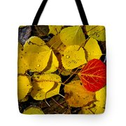 Red On Yellow Tote Bag