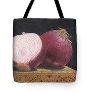 Red Onions On Chess Box Tote Bag