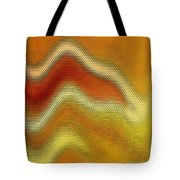 Red Orange And Yellow Glass Waves Tote Bag