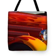 Red Orange And Yellow Hotrod Tote Bag
