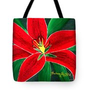 Red Oriental Daylily Tote Bag
