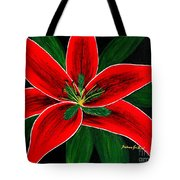 Red Oriental Lily Tote Bag