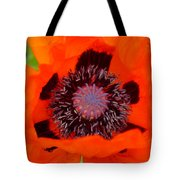 Red Oriental Poppy Tote Bag