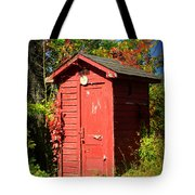 Red Outhouse Tote Bag