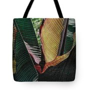 Red Palm Leaves Tote Bag