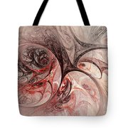 Red Passion - Abstract Art Tote Bag