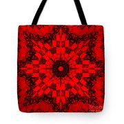 Red Patchwork Art Tote Bag