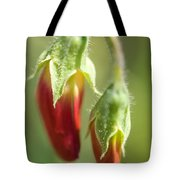 Red Pea Buds Tote Bag