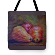 Red Pears Five Tote Bag
