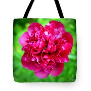 Red Peony Flower Tote Bag
