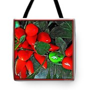 Red Pepper Plant Tote Bag