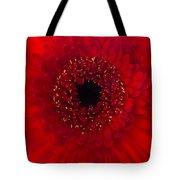 Red Petal Macro 3 Tote Bag