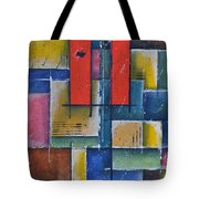 Red Pillars Tote Bag