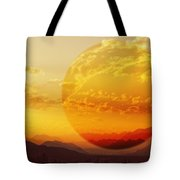 Red Planet Sunset Tote Bag