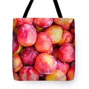 Red Plums Tote Bag