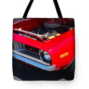 Red Plymouth Barracuda Tote Bag