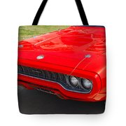 Red Plymouth Gtx Tote Bag