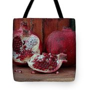 Red Pomegranate Tote Bag