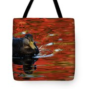 Red Pond Tote Bag