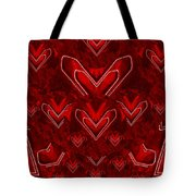 Red Pop Art Hearts Tote Bag