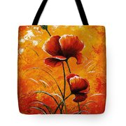 Red Poppies 023 Tote Bag