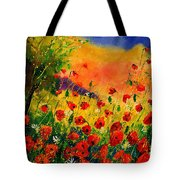 Red Poppies 45 Tote Bag