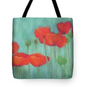 Red Poppies Colorful Poppy Flowers Original Art Floral Garden  Tote Bag