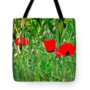Red Poppies Near Meryem Ana Evi-cottage Believed To Be Mary's Last Home-turkey Tote Bag