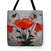 Red Poppies Original Palette Knife Tote Bag